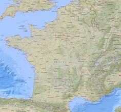 Mapa Físico da França