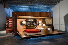 Um apartamento dentro de um container