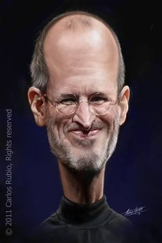 "CARICATURAS DE FAMOSOS: ""Steve Jobs"" por Carlos Rubio"