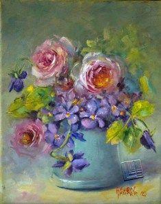 Items similar to Oil on canvas, unframed, Painting on Etsy Oil On Canvas, Canvas Art, Paintings I Love, Oil Paintings, Miniature Portraits, Garden Painting, Artist Painting, Painting Inspiration, Flower Art