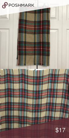 Plaid Blanket Scarf Incredibly soft and warm plaid blanket scarf. Like new. 56x56 inches. Accessories Scarves & Wraps