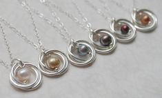 Pearl Wedding Necklace Sterling Silver Necklace by Linkouture