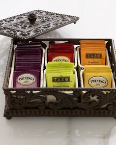 GG Collection Five-Section Divided Tea Box - Neiman Marcus