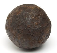 Solid-shot from a six-pounder, discovered on the Battlefield at Gettysburg, Pennsylvania in the 1880s