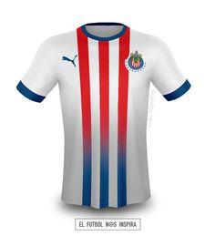 Jersey Chivas • @adidas #ElFutbolNosInspira Soccer Uniforms, Team Uniforms, Chivas Soccer, Camisa Nike, Soccer Kits, Uniform Design, Garage Design, Sports Logo, Football Jerseys