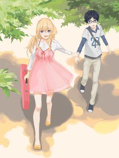 """You come along too""Miyazono kaori"