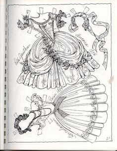 Ballet Book 2 - Ventura page 21 Colouring Pages, Adult Coloring Pages, Coloring Books, Paper Toys, Paper Crafts, Ballet Books, Paper Dolls Clothing, Doll Clothes, Paper Dolls Printable