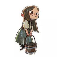 """Gretel"" character study by Ryan Lang Character Design Cartoon, Kid Character, Character Design References, Character Drawing, Character Design Inspiration, Character Illustration, Character Concept, Concept Art, Illustration Art"