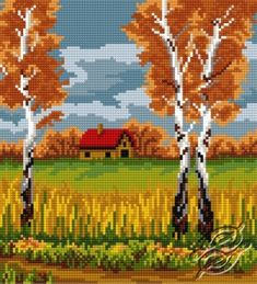 Birch In Autumn - Free pattern - only registered users