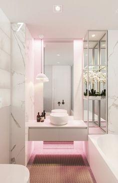 Apartment in Saint Petersburg - Dezign Ark (Beta) Dream Home Design, Home Interior Design, House Design, Interior Decorating, Bad Inspiration, Bathroom Inspiration, Bathroom Design Luxury, Room Planning, Home Decor Furniture