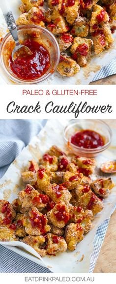 Paleo Crack Cauliflower With Spicy Red Sauce | http://eatdrinkpaleo.com.au/crack-cauliflower-paleo-gluten-free/