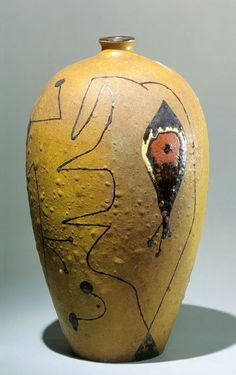 "Vase   1941-1945  Stoneware        40   x 22 cm  /      15 7⁄10 x 8 7⁄10""            Signed and dated on the base: Miró / 1945 / ARTIGAS / 1941."