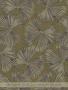 Exotic Palm Leaf Toile | by Sarah & Ruby | www.sarahrubydesign.com