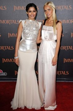In This Photo: Isabel Lucas, Freida Pinto