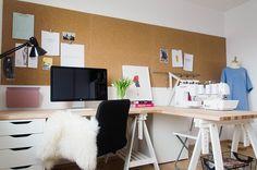 Kurk Prikbord zelfklevend - 60 x 90 cm - dik ✓ Bestel nu! Home Office Design, Office Decor, Shed Office, Cork Wall, Art Studio Organization, Interior Design, Home Decor, Organising, Kidsroom