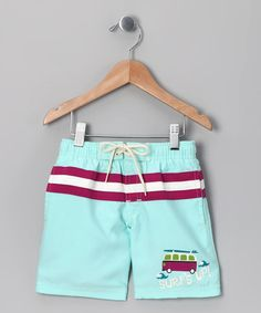 Take a look at this Light Blue 'Surf's Up' Swim Trunks - Toddler by Vroom Vroom on #zulily today!
