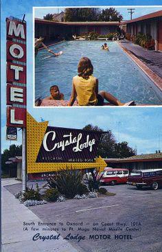 1500 S. Oxnard Blvd South entrance to Oxnard - on Coast Hwy. Oxnard California, Vans California, I Love La, Drive In Theater, Ventura County, Googie, Motel, Crystal Lodge, Growing Up