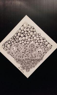 #diva277 #zentangle #tipple #printemps #fescu #shattuck. Desafío de la Diva 277: hacer una tesela basada en círculos.