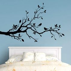 Branch Left Corner Fathead Wall Decal