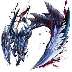 The silver wing of the evil star, Valphalk Monster Hunter G, Monster Hunter Series, Fantasy Creatures, Mythical Creatures, Monster Sketch, Demon Drawings, Creature Concept Art, Fantasy Monster, Monster Design