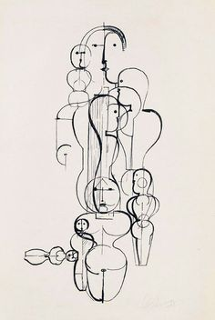 We are intensely aware of man as a machine and the body as a mechanism-  Artworks by Oskar Schlemmer