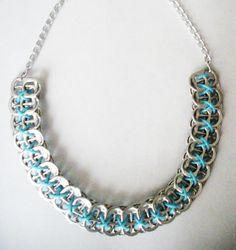 Fiche créative tutoriel DIY – Tuto d'un collier en capsules de canettes !