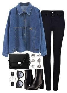 """""""Untitled #652"""" by weyheytati ❤ liked on Polyvore featuring Armani Jeans, Aspinal of London, Paul Smith, Topshop, Thierry Lasry and Daniel Wellington"""
