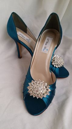 0098350f9e9d9 30 Best turquoise wedding shoes images in 2016 | Teal wedding shoes ...