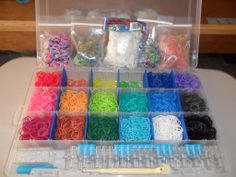 My Band collection. All from Rainbow Loom them selves. Now if they can only work on some skin tone colors to add to this awesome collection of colors it would be great! Diy Gifts For Your Best Friend, Rainbow Loom Creations, Rainbow Loom Bands, Colors For Skin Tone, Awesome, Collection