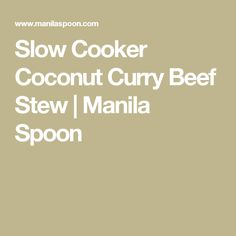 Slow Cooker Coconut Curry Beef Stew   Manila Spoon