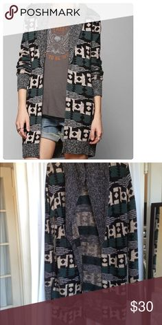 Urban Outfitters Ecote tribal print cardigan Lightly worn urban outfitters cardigan Urban Outfitters Sweaters Cardigans
