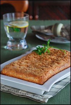 Cold-smoked salmon pie