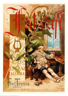 Verdi Falstaff Opera Posters - Unique Wall Art Opera Poster - Unique Wall Art — MUSEUM OUTLETS