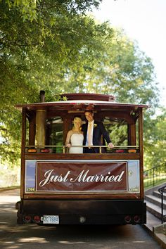 © The Beautiful Mess Photography, Rebecca and Will, Charlotte, NC, Trolleys of the Carolinas, Hall & Webb Event Design, Charlotte Wedding Planner