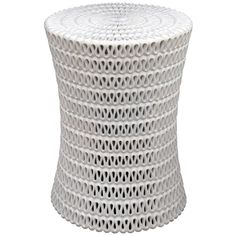 oly studio pipa side table- white, textural ribbon....