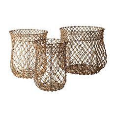 Fisherman's Rope Baskets 3pc Set by ELK Lighting
