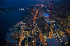 Sunday's #PhotoOfTheDay is a night shot of #HarbourPlaza rising in #Toronto's South core. #LifeStoreys