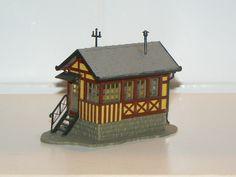 Scale Model of an old German Train House in 1:87 Scale www.modelleisenbahn-figuren.com