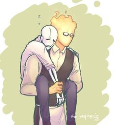 Grillby and Gaster Undertale Gaster, Undertale Ships, Undertale Fanart, My Little Pony Pictures, Underswap, Anime Love, Nerdy, Cool Art, Creatures