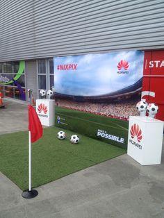 Photo stall at FootballUnited14 Wellington westpac Stadium. New Zealand.