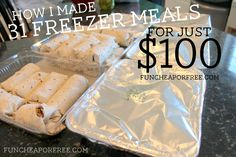 Easy recipes to make freezer meals in no time! From FunCheapOrFree.com