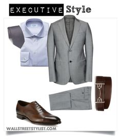 Executive Style by wallststylist on Polyvore featuring ETON, Armani Collezioni, Edward Green, Bally, Brioni, men's fashion and menswear www.WallStreetStylist.com