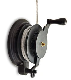 Hand Winch for Kitchen Maid Clothes Airer - The hand winch makes easy light work of raising and lowing any of our Kitchen Maid Clothes Airers. It simply bolts to your wall and directly replaces the cleat you would normally use. Drying Rack Laundry, Clothes Drying Racks, Clothes Dryer, Clothes Line, Small Utility Room, Small Laundry Rooms, Hanging Drying Rack, Kitchen Maid, Small Cottage Kitchen