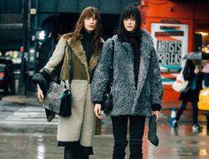 Looks street style lluvia nieve