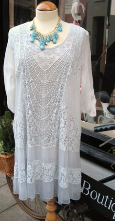grey Italian lace dress