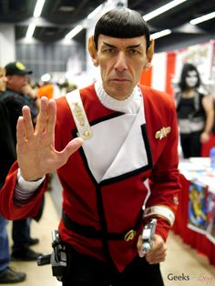 Spock, Star Trek, from Montreal Comic Con 2014.