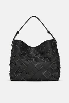 ccddb90c49 Image 2 of WOVEN LEATHER BUCKET BAG from Zara Bucket Bag