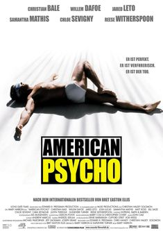 #AmericanPsycho. Christian Bale plays Patrick Bateman, a crazed bloody banker. Yes, Bloody Bankers!