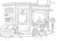 Nick Watson Rocket Pop, Story Inspiration, Zentangle, Line Art, Cute Animals, Character Design, Doodles, Sketches, Diagram