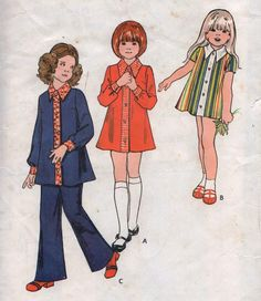Vintage Sewing Pattern /Butterick 6737 / child's dress and